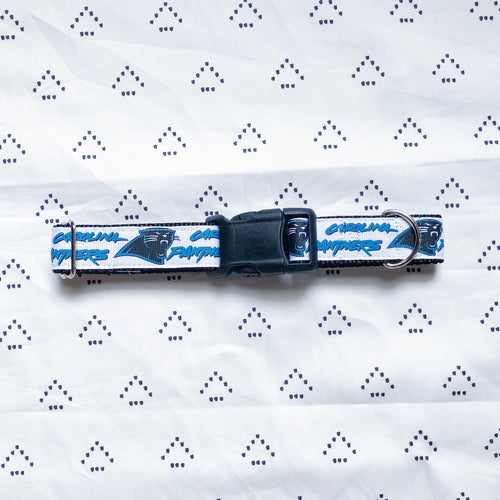 Carolina Panthers Adjustable Dog Collar