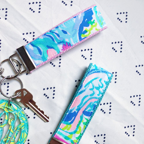 Lilly Pulitzer Mermaids Cove Key Fob Wristlet