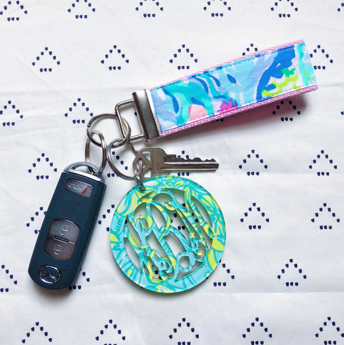 Lilly Pulitzer Mermaid's Cove Key Fob Wristlet