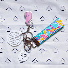 Lilly Pulitzer Written In The Sun Key Fob Wristlet