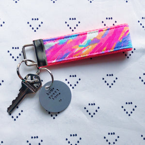 Lilly Pulitzer Palm Beach Coral Key Fob Wristlet