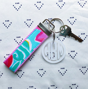 Lilly Pulitzer Shorely Blue Bellina Key Fob Wristlet