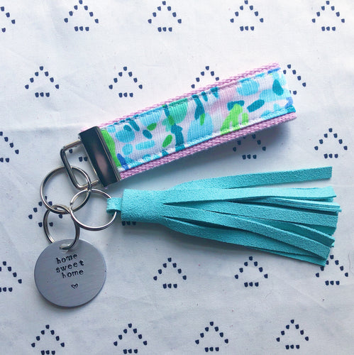 Lilly Pulitzer Sky Blue Heaven Key Fob Wristlet