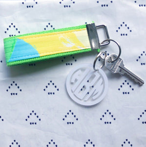Lilly Pulitzer Yellow First Impression Key Fob Wristlet