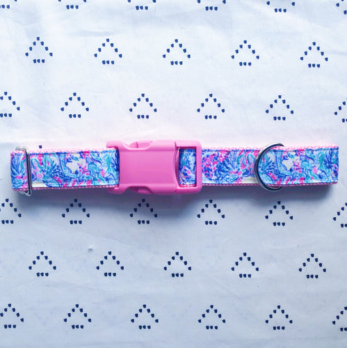 Lilly Pulitzer Mermaids Cove [New] Dog Collar