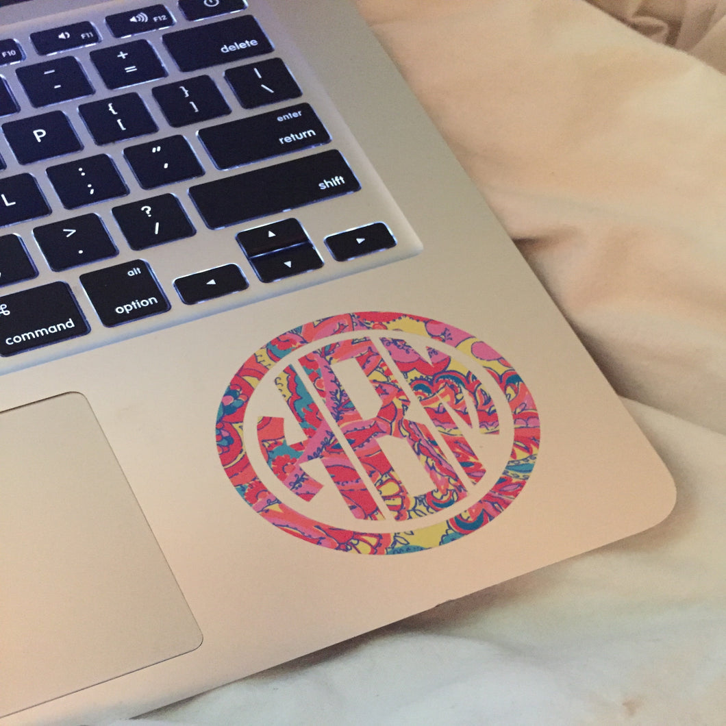 Personalized Lilly Pulitzer Monogram Sticker/Decal