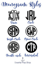 Personalized Solid Color Monogram Sticker/Decal