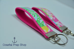 Lilly Pulitzer Multi State Patch Key Fob Wristlet