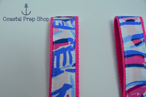 Lilly Pulitzer Red Right Return Key Fob Wristlet