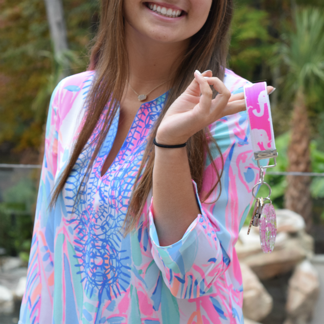 Lilly Pulitzer Tusk In The Sun Key Fob Wristlet