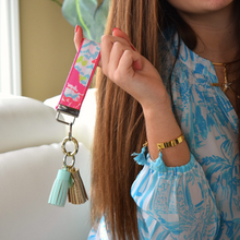 Lilly Pulitzer Neon Lobstah Roll Key Fob Wristlet