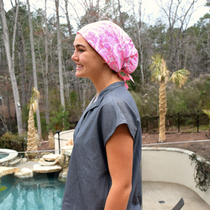 Lilly Pulitzer Sky Blue Heaven Scrub Hat
