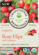 Load image into Gallery viewer, TRADITIONAL MEDICINALS: Tea Rose Hips Hibiscus Organic, 16 bg