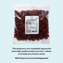 Load image into Gallery viewer, Organic Dried Cranberries