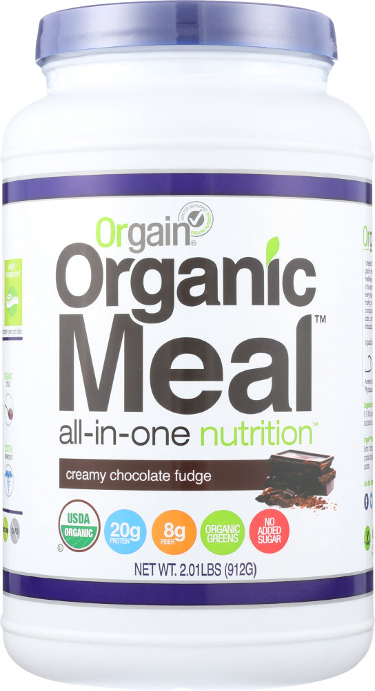 ORGAIN: Organic Meal All-in-one Nutrition Creamy Chocolate Fudge, 2.01 lb