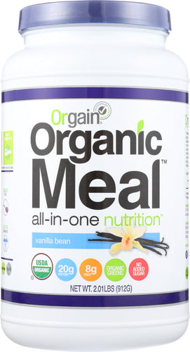 ORGAIN: Organic Meal All-in-one Nutrition Vanilla Bean, 2.01 lb