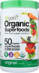ORGAIN: Organic Superfoods All-In-One Super Nutrition Original, 9.92 oz