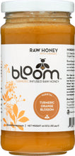 Load image into Gallery viewer, BLOOM HONEY: Turmeric Infused Orange Blossom Honey, 16 oz