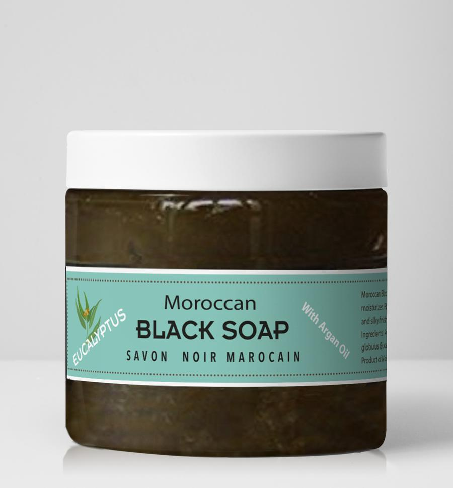 Moroccan Black Soap - Eucalyptus - 16 oz
