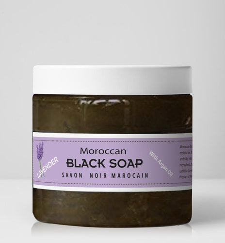 Moroccan Black Soap - Lavender-16 oz