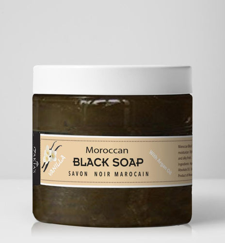Moroccan Black Soap - Vanilla -16 oz