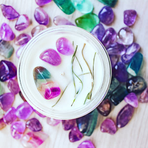 Calm Crystal Charge Candle | Healing Crystal Candle