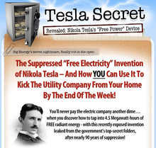 Load image into Gallery viewer, The Tesla Secret to building a Free Energy Generator (Digital Product)