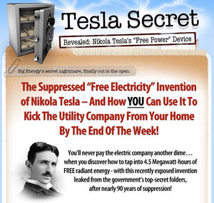 The Tesla Secret to building a Free Energy Generator (Digital Product)