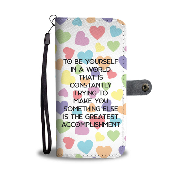 Wallet Phone Case - Be Yourself