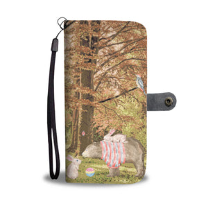 Wallet Phone Case - Bunny and Bear