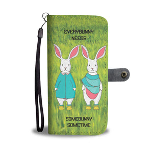 Wallet Phone Case - Bunny Couple