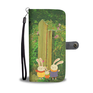 Wallet Phone Case - Bunnies by the Gate