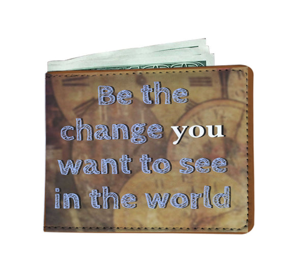 Men's Wallet - Be the Change