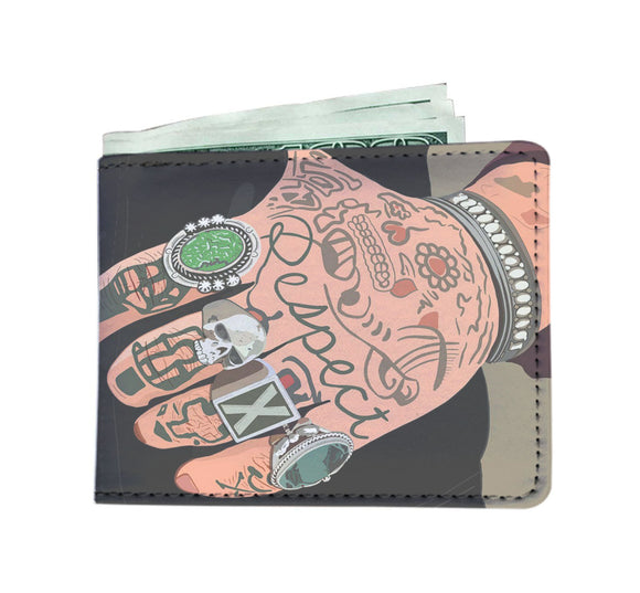Men's Wallet - Tattoo Hands