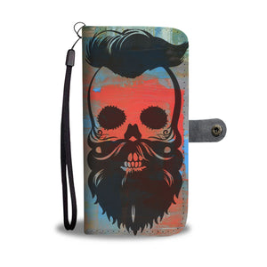 Wallet Phone Case - Hipster Skull