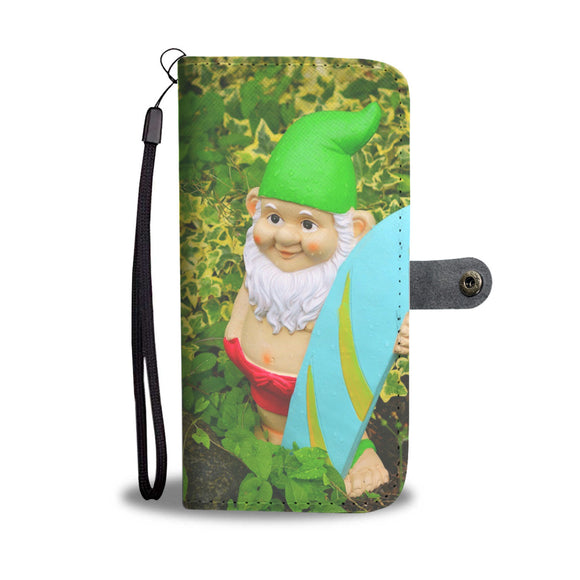 Wallet Phone Case - Surfer Dude Gnomes