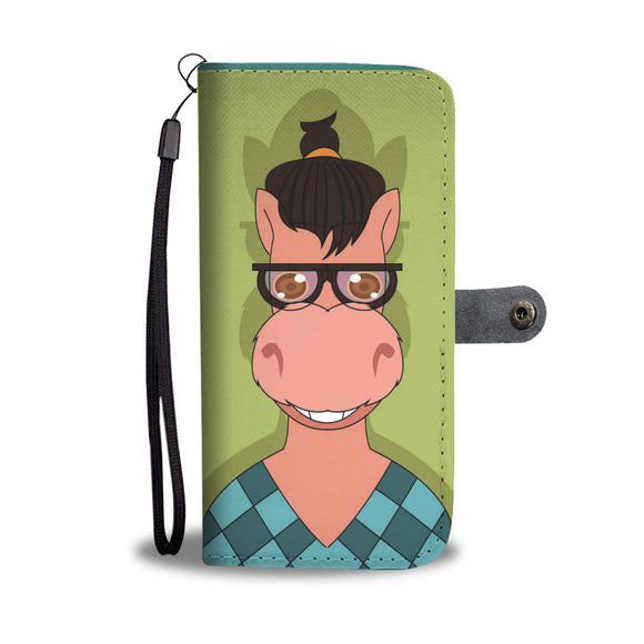 Wallet Phone Case - Hipster Horse