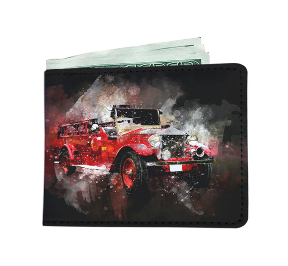 Men's Wallet - Red Fire Truck