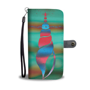 Wallet Phone Case - Shell Lighthouse