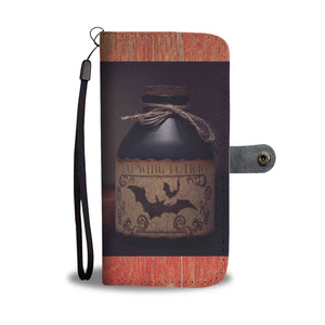 Wallet Phone Case - Potion and Skull