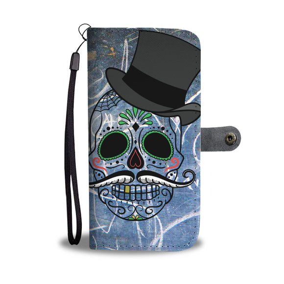 Wallet Phone Case - Gentlemen Skulls