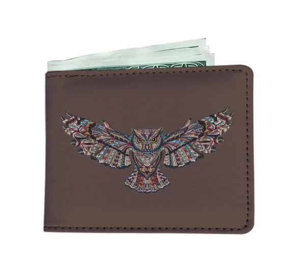 Men's Wallet - Mosaic Owl