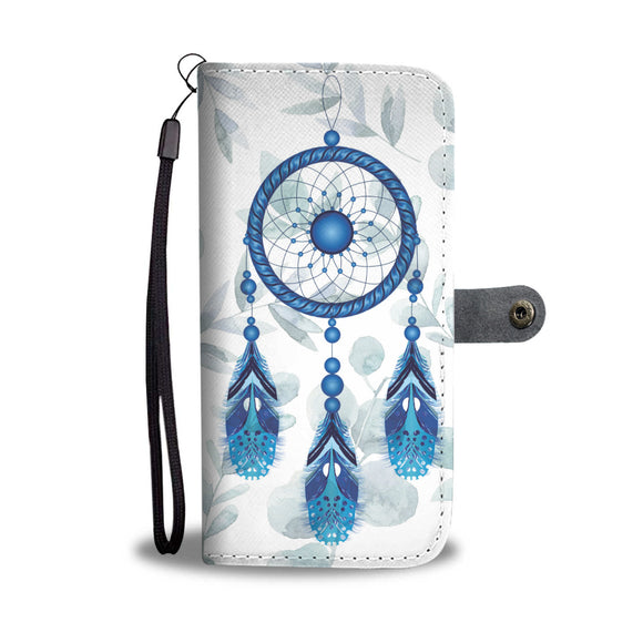 Wallet Phone Case - Blue Dreamcatcher