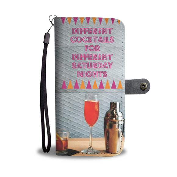 Wallet Phone Case - Cocktails