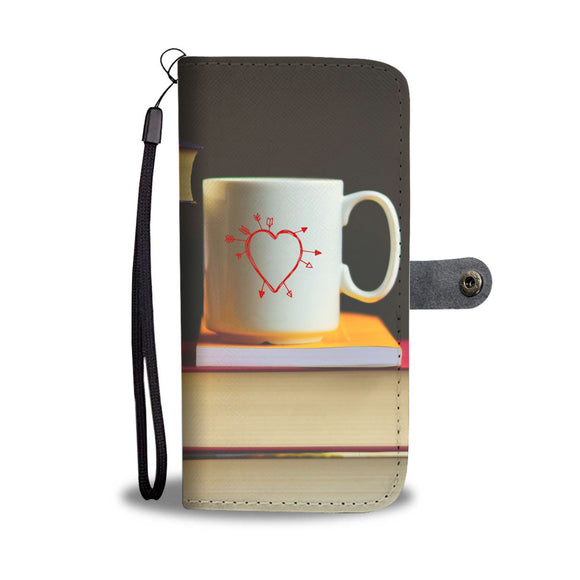 Wallet Phone Case - Heart Mug