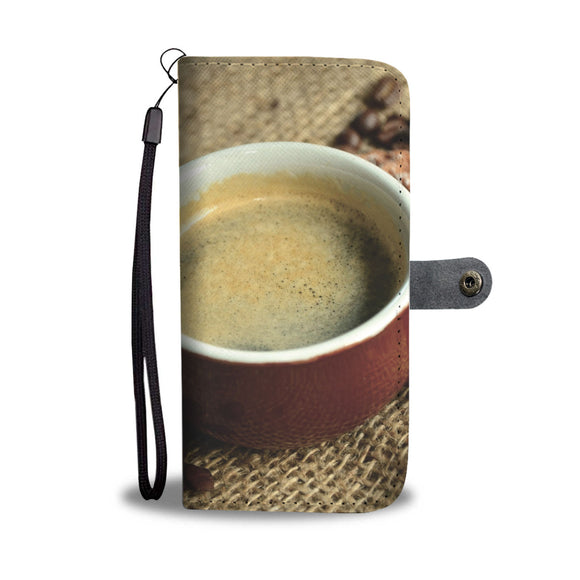 Wallet Phone Case - Coffee and Waffles