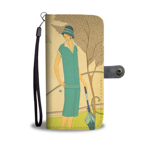 Wallet Phone Case - Deco Lady