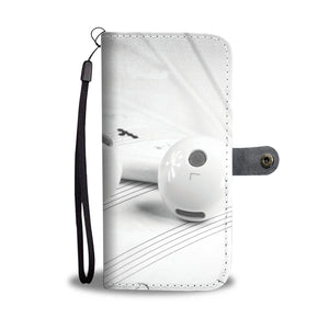Wallet Phone Case - Earphones on Music