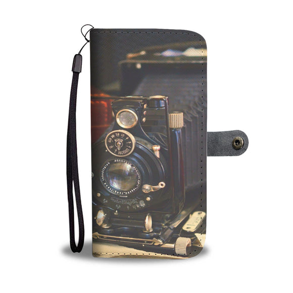 Wallet Phone Case - Vintage Camera