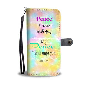 Wallet Phone Case - Peace